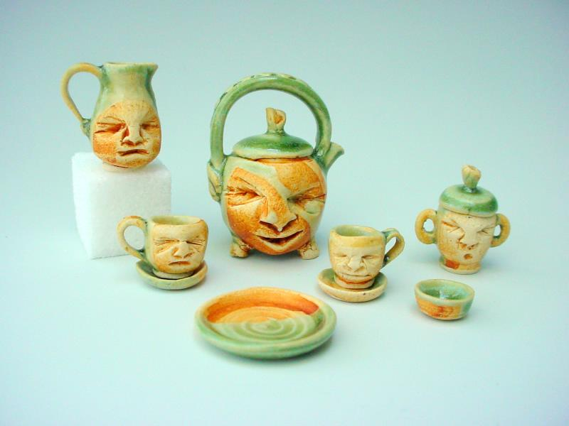 Spot of tea: Hand thrown miniatures.