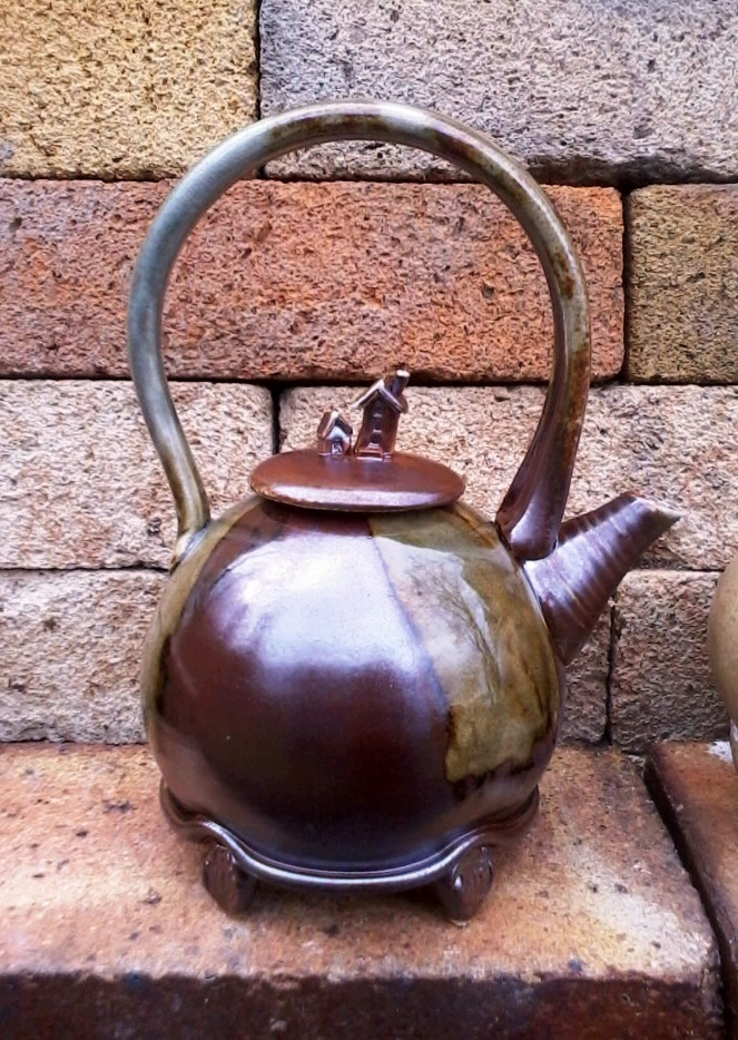 Teapot, Porcelain, Soda fired